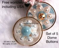 Pearl jacket buttons, Pearl dome buttons,  Pearl buttons, Free worldwide shipping